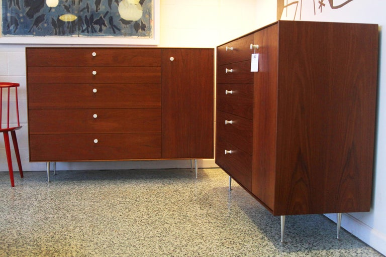 North American Pair George Nelson Rosewood Thin Edge Prototype Chest Dresser Herman Miller For Sale