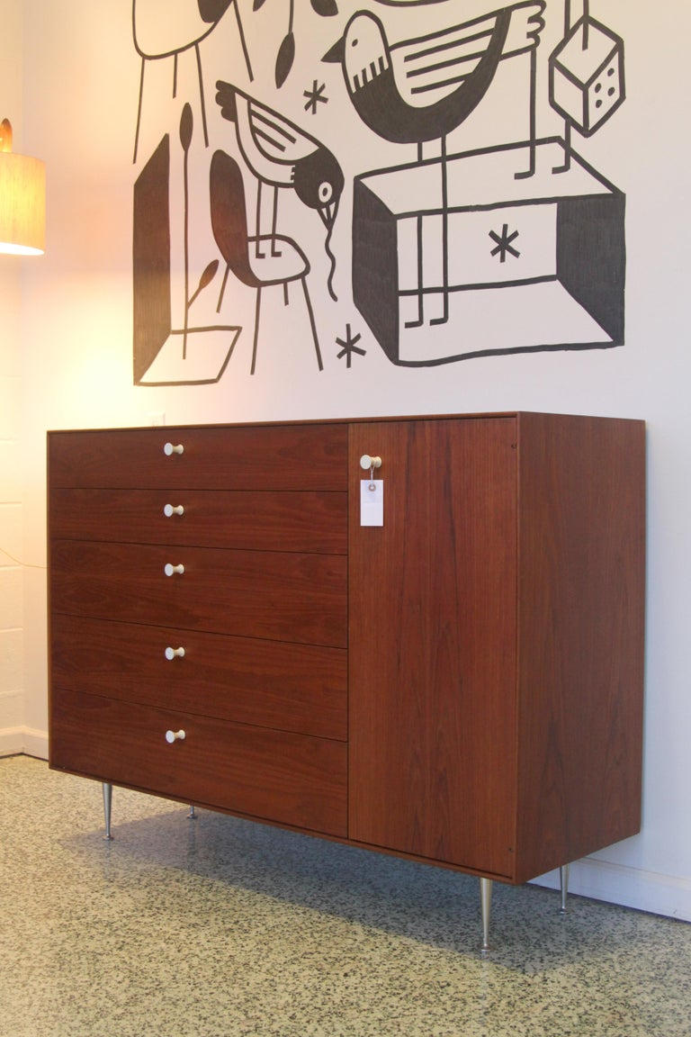 Pair George Nelson Rosewood Thin Edge Prototype Chest Dresser Herman Miller For Sale 1