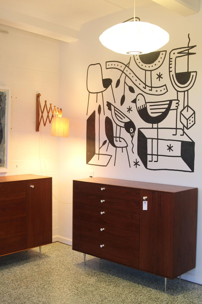 Pair George Nelson Rosewood Thin Edge Prototype Chest Dresser Herman Miller For Sale 2