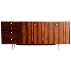 "George Nelson Rosewood ""Thin Edge"" Credenza for Herman Miller, circa 1960"