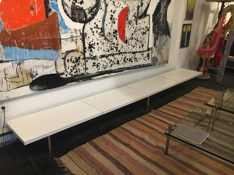 George Nelson Steel Frame Bench Herman Miller, 1952 In Excellent Condition For Sale In Brooklyn, NY