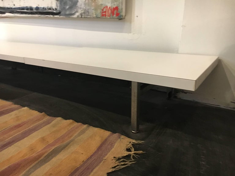 Mid-20th Century George Nelson Steel Frame Bench Herman Miller, 1952 For Sale