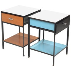 George Nelson Steel Frame Nightstands for Herman Miller