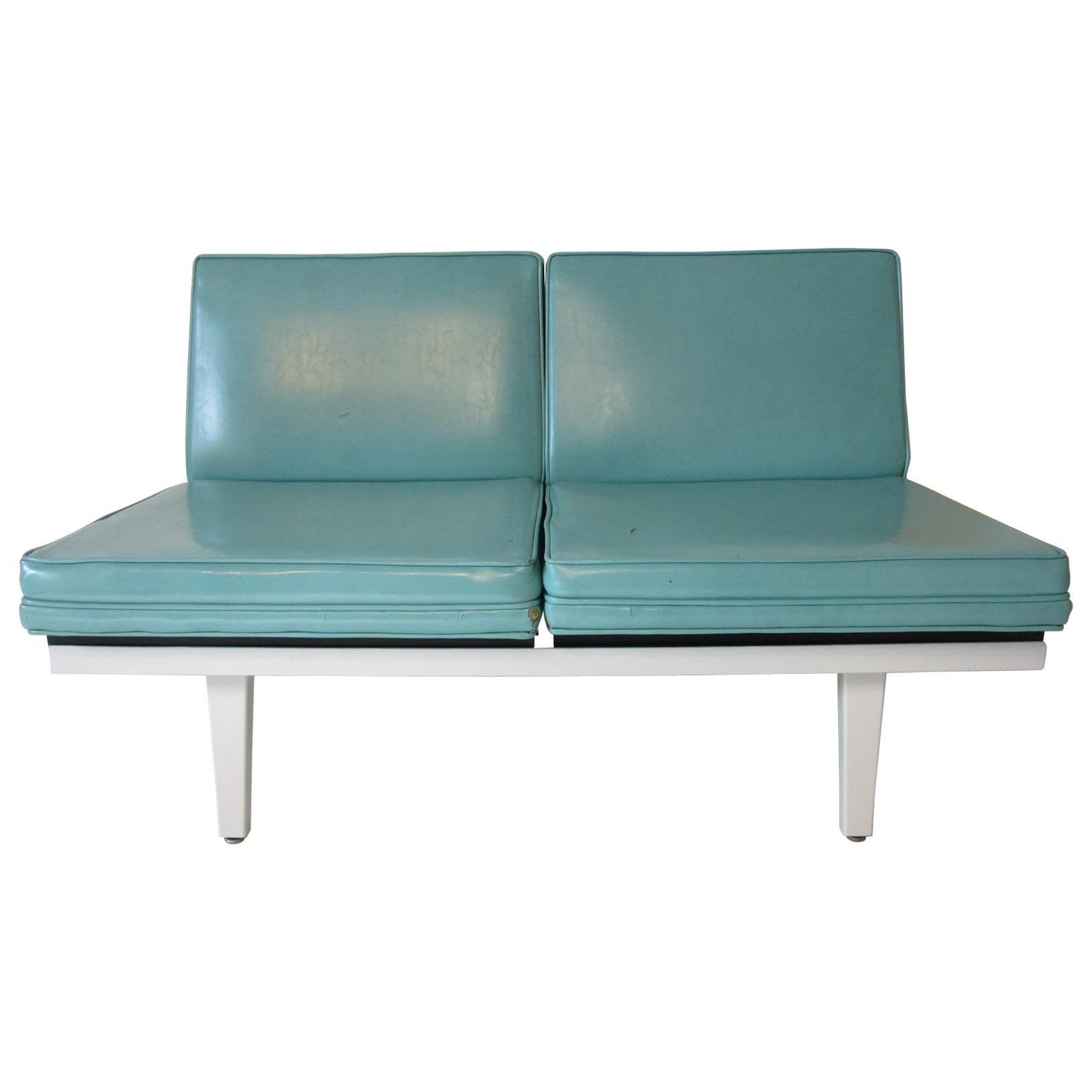 George Nelson Steel Frame Sofa - Loveseat by Herman Miller ( 1 )