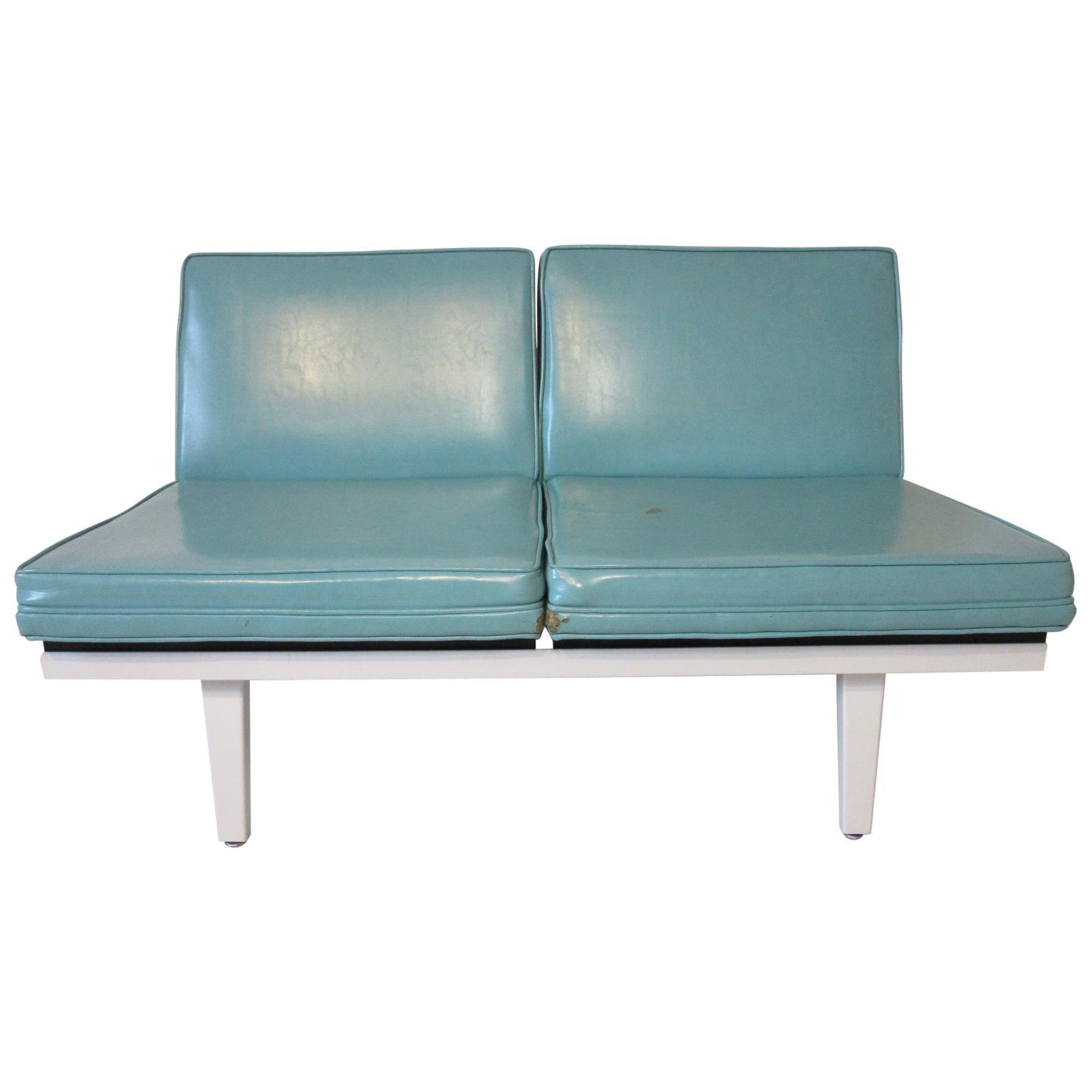 George Nelson Steel Frame Sofa / Loveseat for Herman Miller '2'