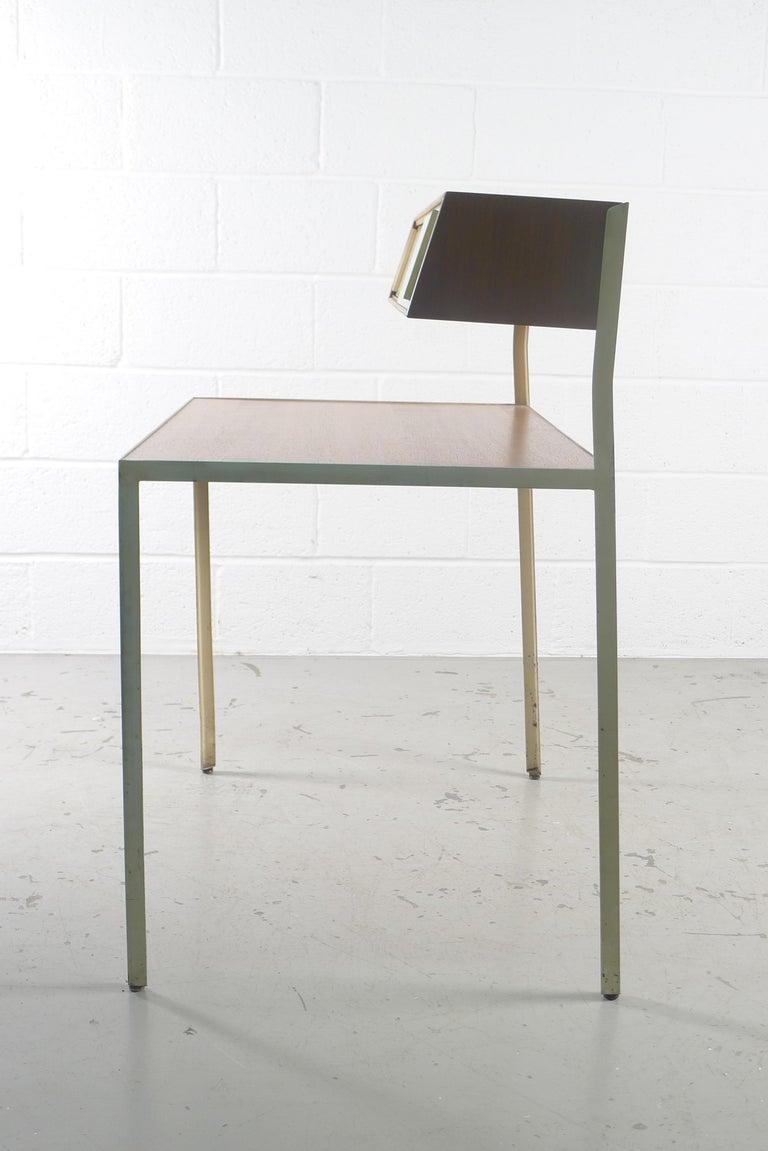 Walnut George Nelson Steelframe Desk for Herman Miller, 1950s For Sale