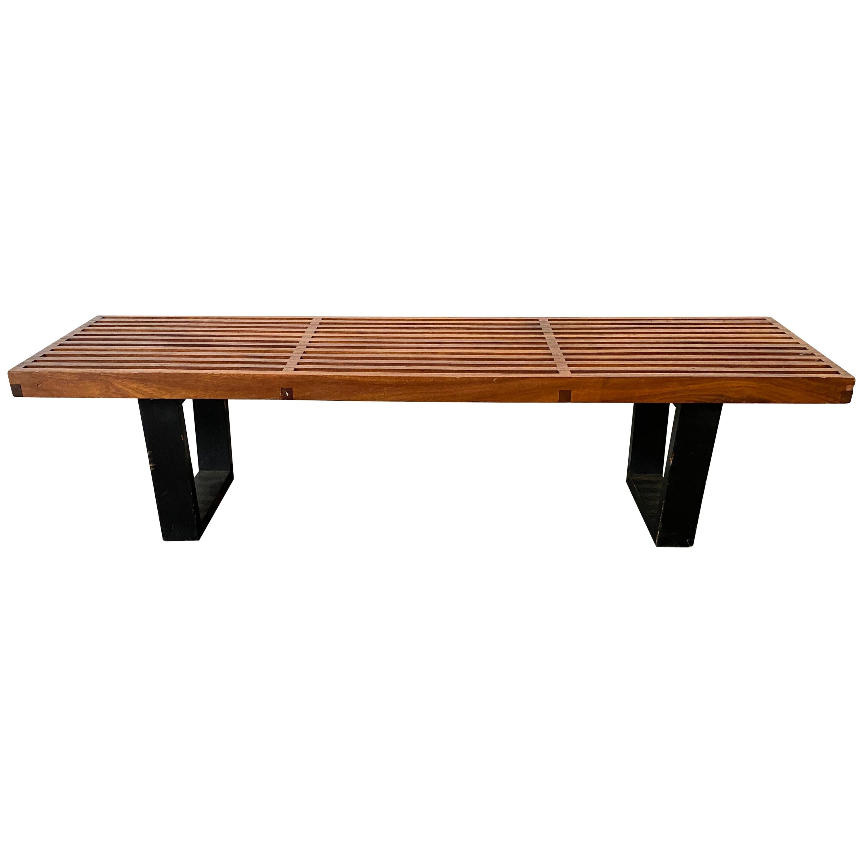 George Nelson Style Slat Bench