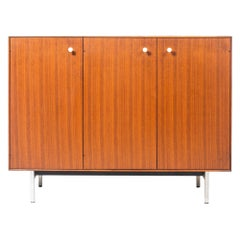 George Nelson Thin Edge Bar Cabinet with Built in Electric Plugs