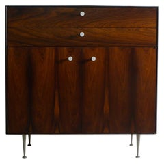 George Nelson Thin Edge Rosewood Cabinet, Herman Miller Label, 1950's