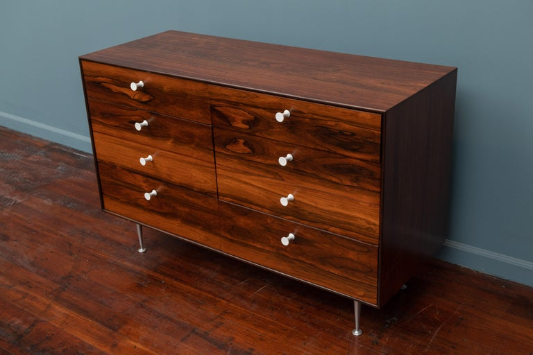 Mid-Century Modern George Nelson Thin Edge Rosewood Dresser For Sale