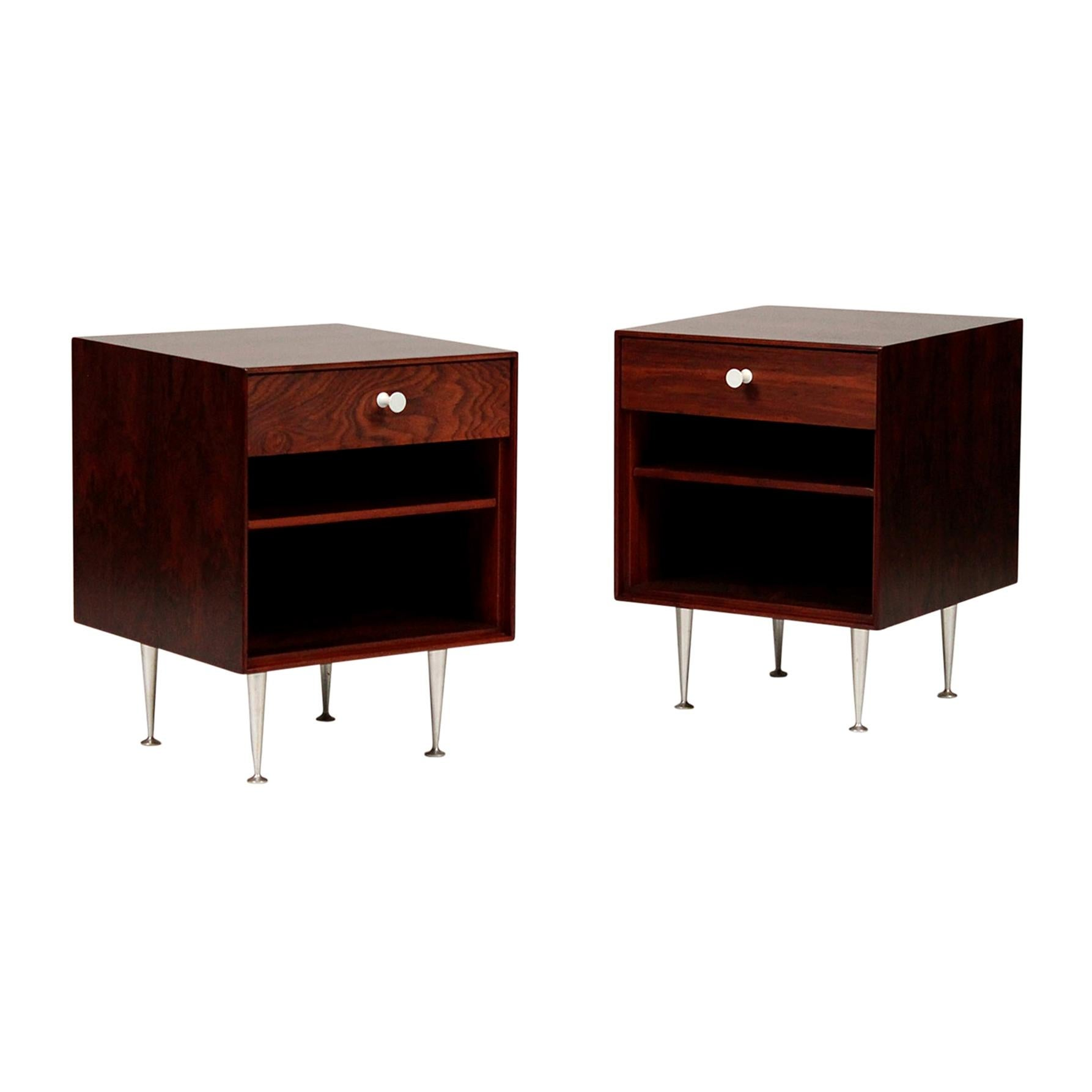 George Nelson Thin Edge Rosewood Nightstands