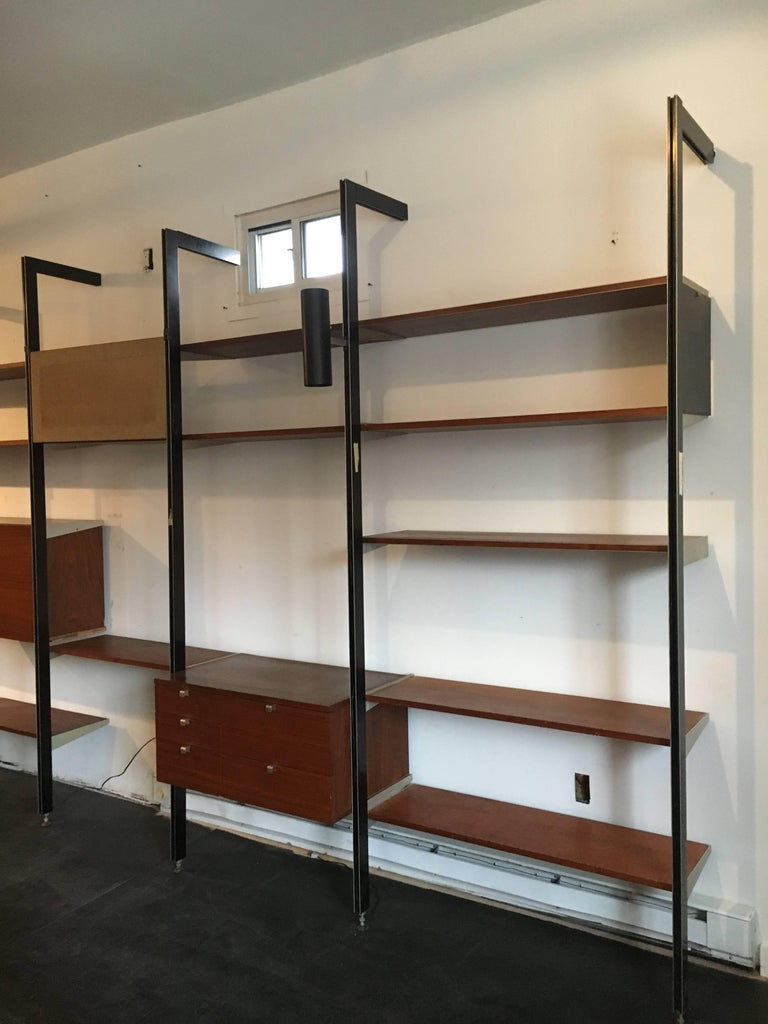 Mid-Century Modern George Nelson Three Bay CSS Shelving Unit by Herman Miller, circa 1960 For Sale