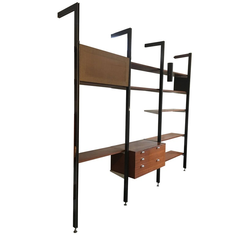 George Nelson Three Bay CSS Shelving Unit by Herman Miller, circa 1960 For Sale