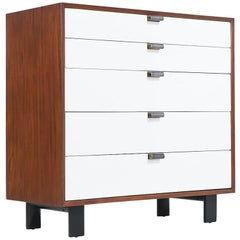 George Nelson Two-Tone Lacquered & Walnut Chest of Drawers for Herman Miller