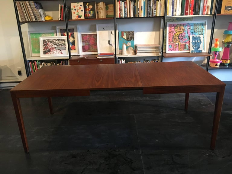 Walnut extension dining table designed by George Nelson for Herman Miller, 1950.