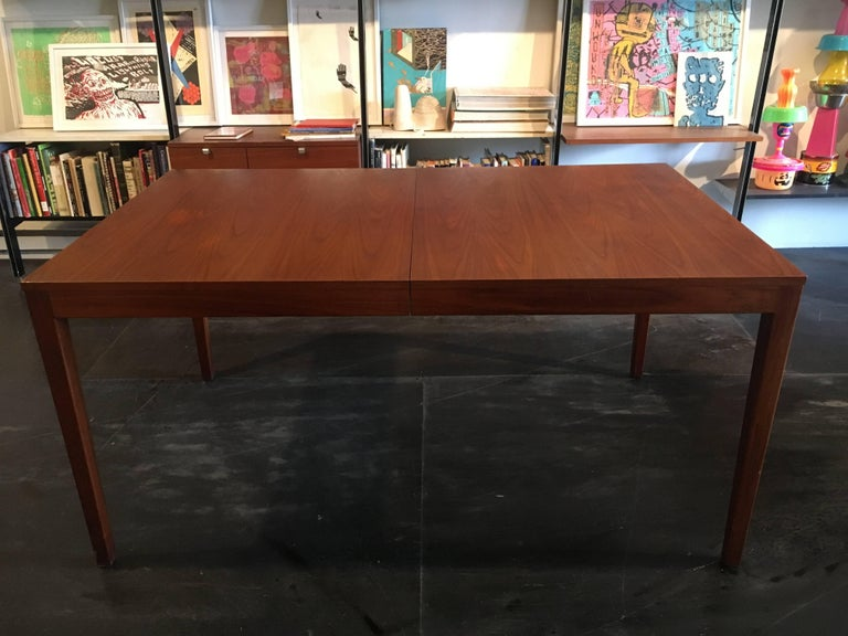 American George Nelson Walnut Extension Dining Table, Herman Miller, 1950 For Sale