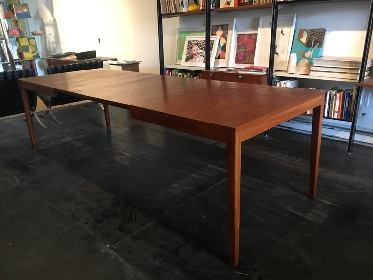 Mid-20th Century George Nelson Walnut Extension Dining Table, Herman Miller, 1950 For Sale