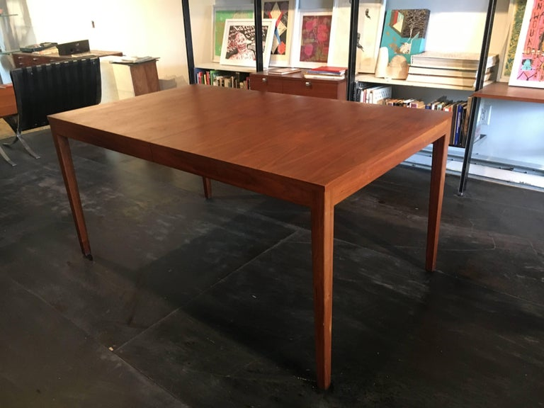 George Nelson Walnut Extension Dining Table, Herman Miller, 1950 For Sale 1