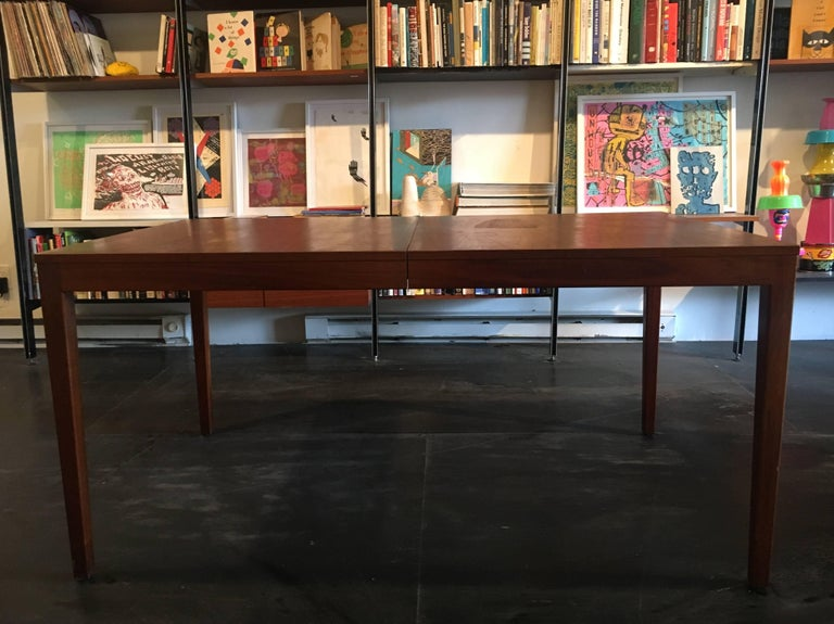 George Nelson Walnut Extension Dining Table, Herman Miller, 1950 For Sale 3