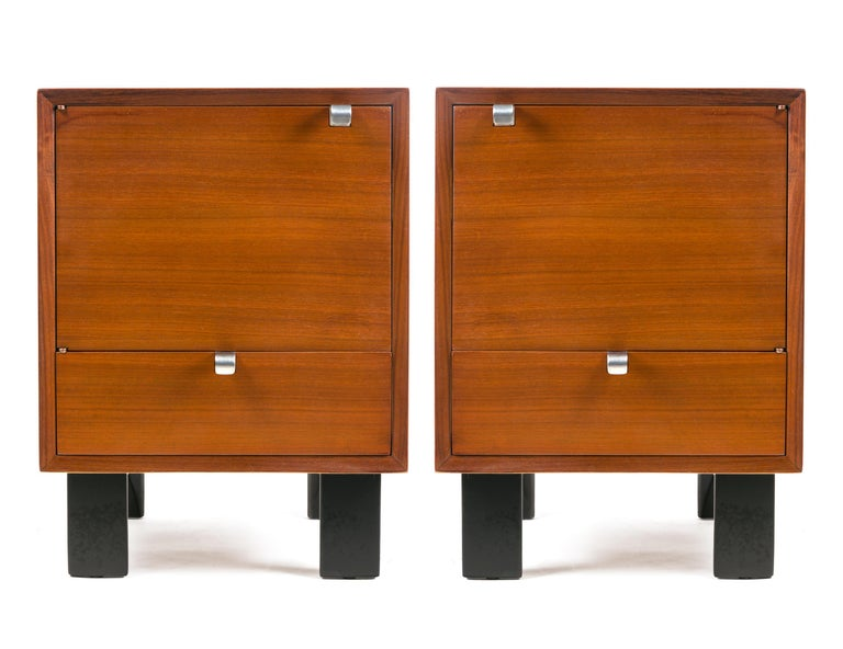 Like all of George Nelson designs these nightstands are both exceptionally good looking and very functional.