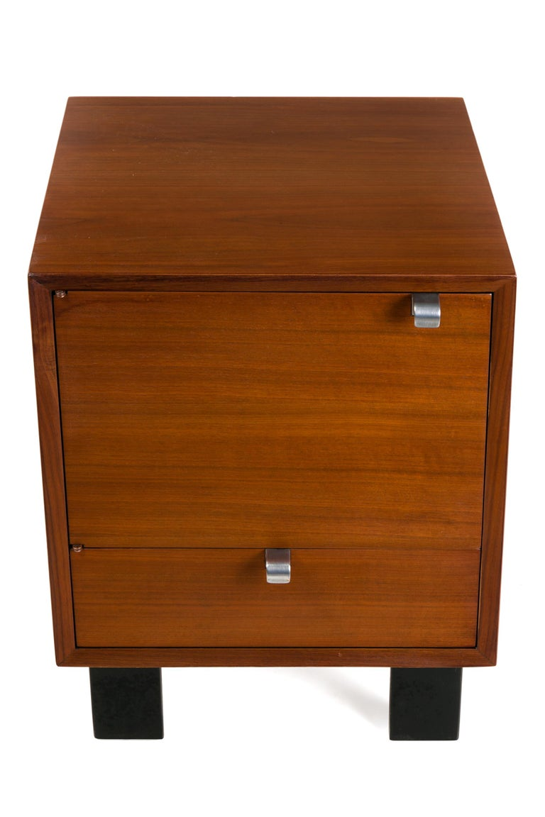 Mid-Century Modern George Nelson Walnut Nightstands for Herman Miller, USA, 1950s For Sale