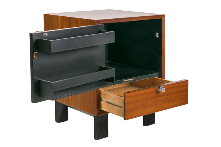American George Nelson Walnut Nightstands for Herman Miller, USA, 1950s For Sale