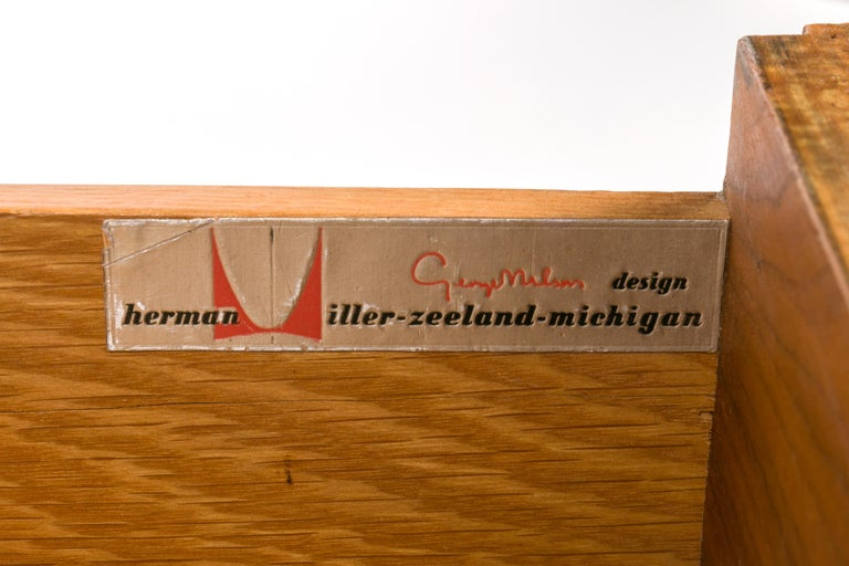 George Nelson Walnut Nightstands for Herman Miller, USA, 1950s For Sale 1