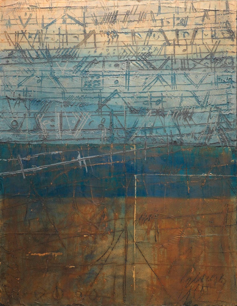 George Noel Abstract Painting - Palimpseste