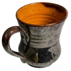 George Ohr Signed Pottery Handled Mug