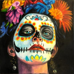 'Day of the Dead,' by George Oswalt, Oil on Canvas Painting