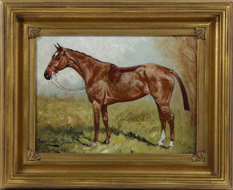 George Paice 'Sarcastic Beauty' Equestrian Horse Painting - Brown Animal Painting by George Paice