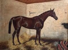 Summer Lightning - Very Large English Equestrian Oil