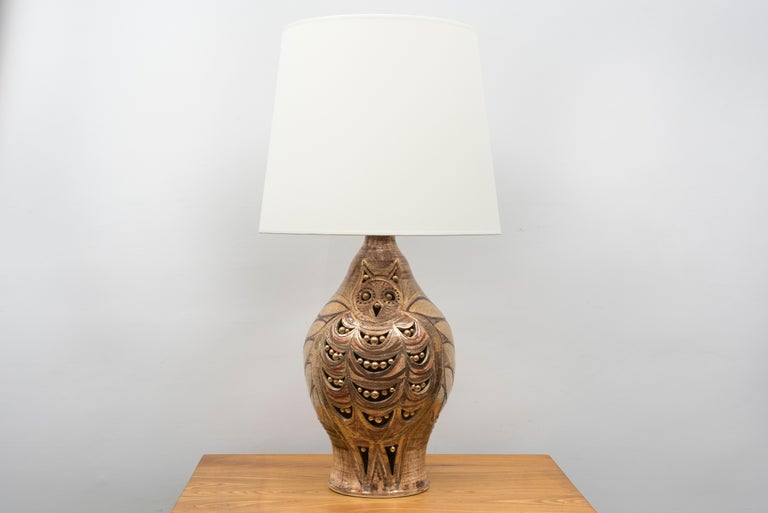 French George Pelletier Table Lamp, France, circa 1970 For Sale