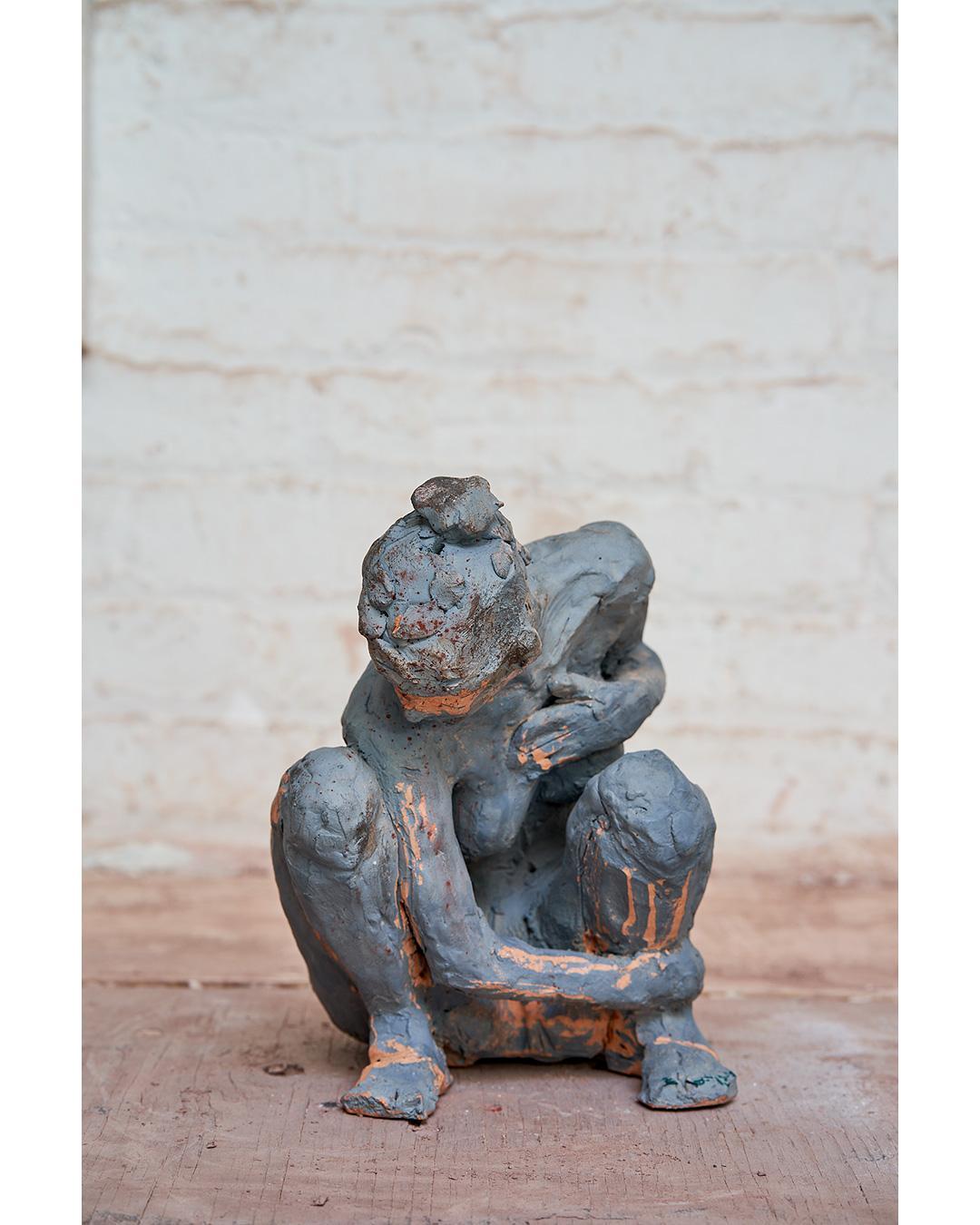 """""""Anais Accroupie"""" Nude Figurative Sculpture - Unique Multiples"""