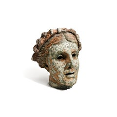 """""""Thalia, Muse of Comedy (Head)"""" Over Life-size Portrait Sculpture"""