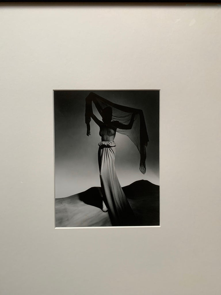 The silver gelatin photograph was printed by the photography department of the Metropolitan Museum of Art in New York City in the 1990s frim the original negative. George Platt Lynes (1907 to 1955) was a legendary fashion photographer who shot