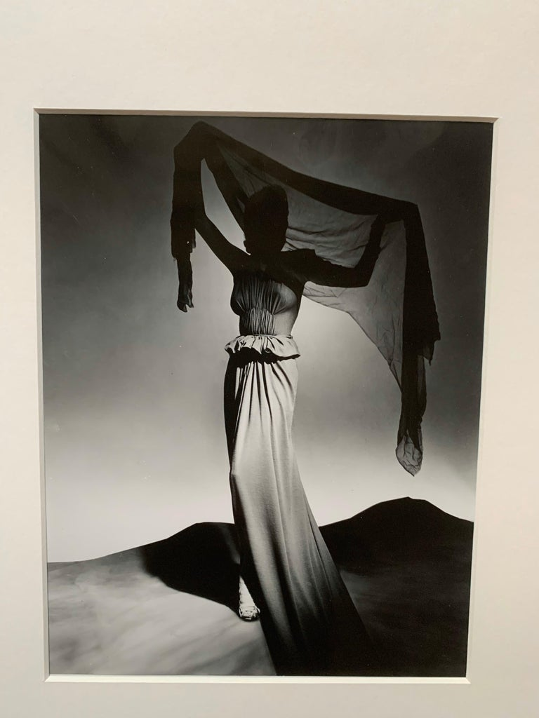 Modern George Platt Lynes Original B&W Fashion Photograph, Metropolitan Museum Art For Sale
