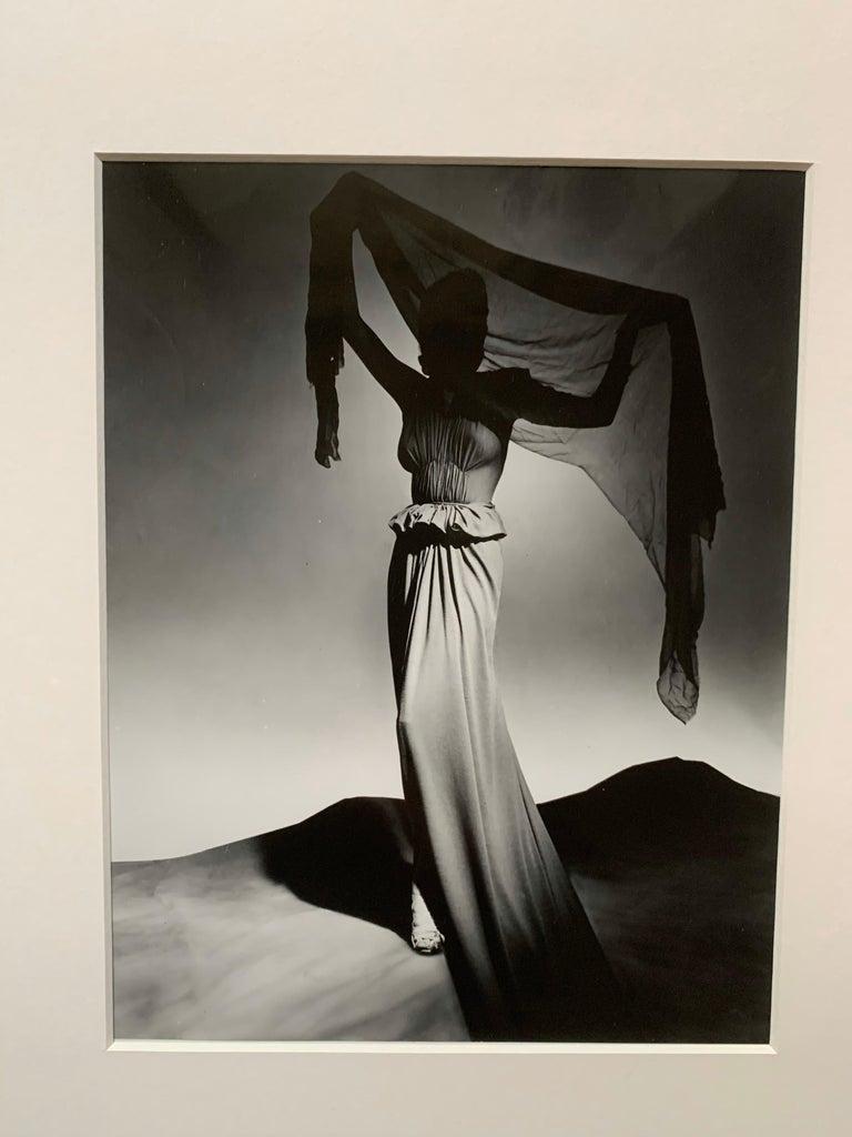 Hand-Crafted George Platt Lynes Original B&W Fashion Photograph, Metropolitan Museum Art For Sale
