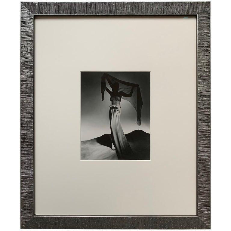 George Platt Lynes Original B&W Fashion Photograph, Metropolitan Museum Art For Sale