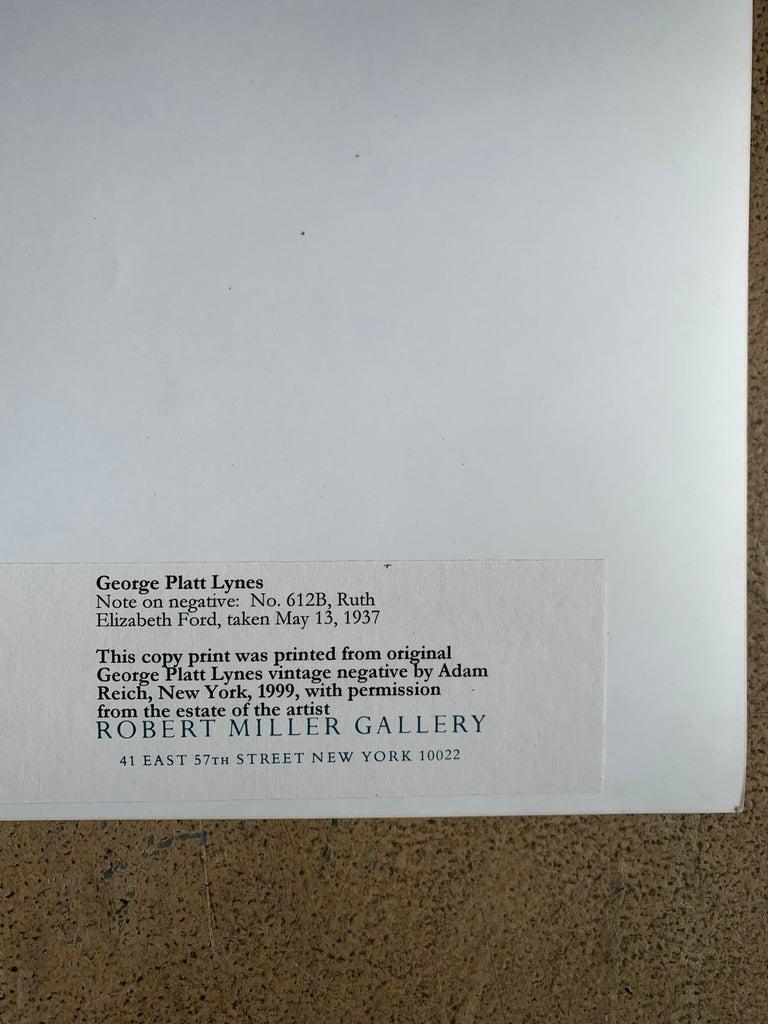 George Platt Lynes Original B&W Photograph, Ruth Elizabeth Ford, Framed For Sale 1