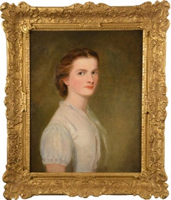 Portrait of a Young Woman in White Blouse