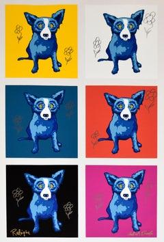 Original Li'l Blue Dog Proof Remarqued - Signed MM One of a Kind Blue Dog