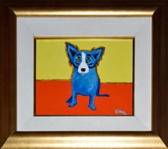 Original - Center Stage - Acrylic on Linen - Signed Blue Dog