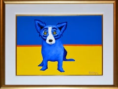 Original - There's a Fine Line Between Blue and Yellow - Signed Oil on Linen