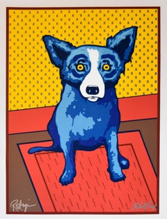 Bear Walls - Signed Silkscreen Print - Blue Dog