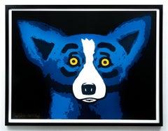 BLUE DOG - HEAD OVER HEELS BLACK - 2002 ARTIST PROOF