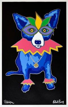 "Blue Dog ""Party Animal Black"" Print Signed Numbered Artwork"