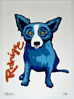 "Blue Dog ""Signature Dog Red"" Signed Numbered Print"
