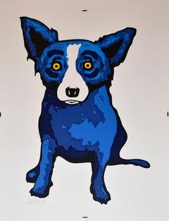 Blue Dog Supersize - Signed Silkscreen Print