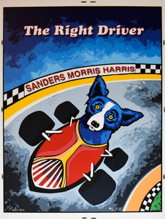 "Blue Dog ""Thunder Road - The Right Driver"" Signed Silkscreen Print"